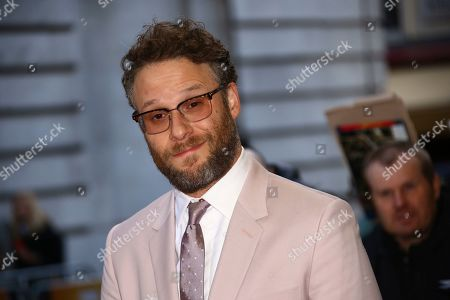 Stock Image of Seth Rogan poses for photographers at the premiere of the film 'Long Shot' in London