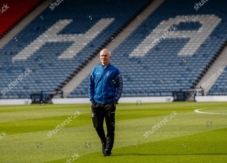 Rangers Youth Team Coach David McCallum on the pitch shortly after arriving at Hampden Park.