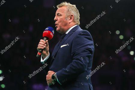 MC John McDonald during the PDC Premier League Darts at Arena Birmingham, Birmingham