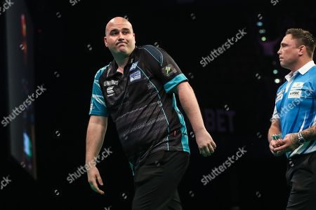 Rob Cross during the PDC Premier League Darts at Arena Birmingham, Birmingham