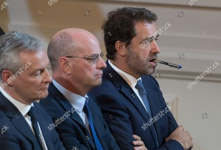 Editorial picture of Press conference at Elysee Palace, Paris, France - 25 Apr 2019