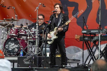John McFee of The Doobie Brothers performs at the New Orleans Jazz and Heritage Festival, in New Orleans