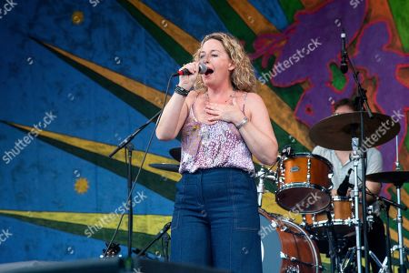 Stock Photo of Amy Helm performs at the New Orleans Jazz and Heritage Festival, in New Orleans
