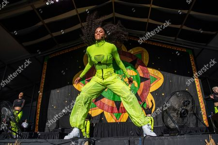 Ciara performs at the New Orleans Jazz and Heritage Festival, in New Orleans