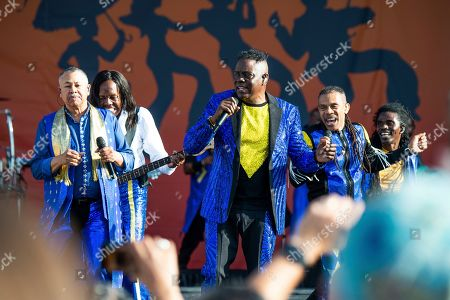 Ralph Johnson, Verdine White, B. David Whitworth, Philip Bailey. Ralph Johnson, from left, Verdine White, B. David Whitworth, and Philip Bailey of Earth, Wind & Fire perform at the New Orleans Jazz and Heritage Festival, in New Orleans