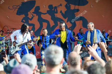 Verdine White, B. David Whitworth, Philip Bailey, Ralph Johnson. Verdine White, from left, B. David Whitworth, Philip Bailey, and Ralph Johnson of Earth, Wind & Fire perform at the New Orleans Jazz and Heritage Festival, in New Orleans
