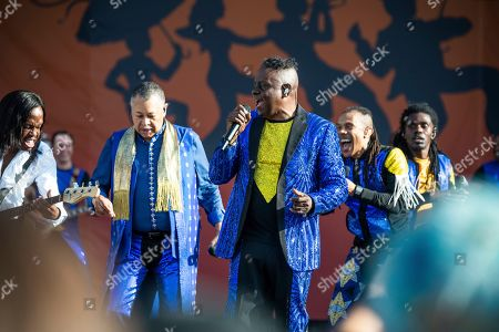 Verdine White, Ralph Johnson, B. David Whitworth, Philip Bailey. Verdine White, from left, Ralph Johnson, B. David Whitworth, and Philip Bailey of Earth, Wind & Fire performs at the New Orleans Jazz and Heritage Festival, in New Orleans