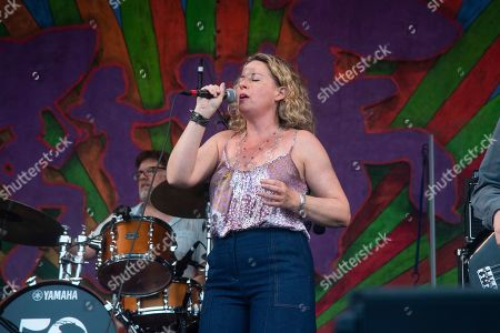 Amy Helm performs at the New Orleans Jazz and Heritage Festival, in New Orleans