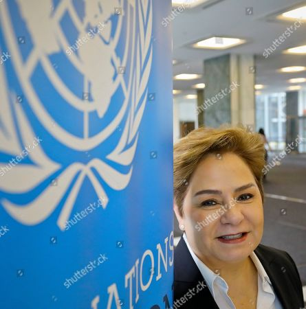"""Patricia Espinosa, Executive Secretary of the United Nations Framework Convention on Climate Change (UNFCCC), at U.N. headquarters. The U.N. climate chief says world leaders must recognize there is no option except to speed-up and scale-up action to tackle global warming, warning that continuing on the current path will lead to """"a catastrophe"""