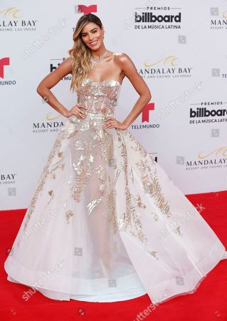 Stock Photo of Ariadna Gutierrez arrives at the Billboard Latin Music Awards, at the Mandalay Bay Events Center in Las Vegas