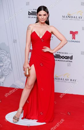 Angelica Celaya arrives at the Billboard Latin Music Awards, at the Mandalay Bay Events Center in Las Vegas
