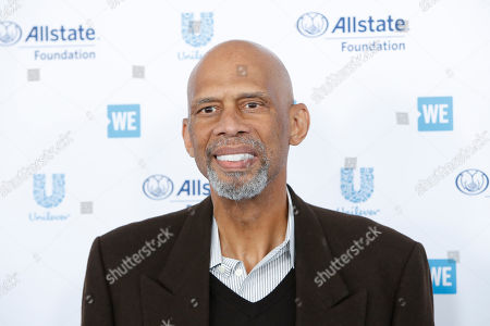 Kareem Abdul-Jabbar arrives for WE Day California at the Forum in Inglewood, California, USA 25 April 2019. WE Day is the worlds largest youth empowerment event combining the energy of a live concert with the inspiration of extraordinary stories of leadership and change. WE Day California will bring together world-renowned speakers and award-winning performers to celebrate the tens of thousands of young people from across California who have made a difference in their community.