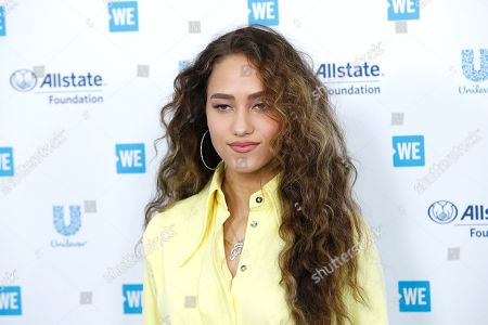 Skylar Stecker arrives for WE Day California at the Forum in Inglewood, California, USA 25 April 2019. WE Day is the worlds largest youth empowerment event combining the energy of a live concert with the inspiration of extraordinary stories of leadership and change. WE Day California will bring together world-renowned speakers and award-winning performers to celebrate the tens of thousands of young people from across California who have made a difference in their community.