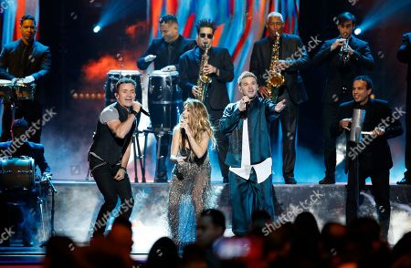 Fonseca, Kany Garcia, Pedro Capo. Fonseca, from left, Kany Garcia and Pedro Capo perform a tribute to Juan Luis Guerra at the Billboard Latin Music Awards, at the Mandalay Bay Events Center in Las Vegas