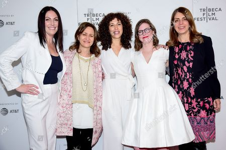 Stock Photo of Sarah Gibson, Erin Lee Carr, Lisa Heller, Sara Rodriguez, and Nancy Abraham
