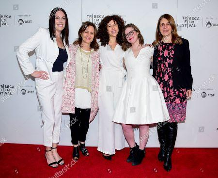 Sarah Gibson, Erin Lee Carr, Lisa Heller, Sara Rodriguez, and Nancy Abraham