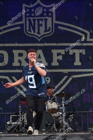 Stock Picture of Mikky Ekko performs live at the NFL Draft Experience Music Stage, in Nashville, Tenn