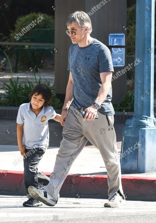 Olivier Martinez and his son Maceo Martinez