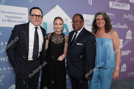 PJ Byrne, Blair Rich - President, Worldwide Marketing, Warner Bros. Pictures Group and Warner Bros. Home Entertainment and Honoree Mark Ridley-Thomas - LA County Supervisor and Stephanie Klasky-Gamer - President and CEO, LA Family Housing