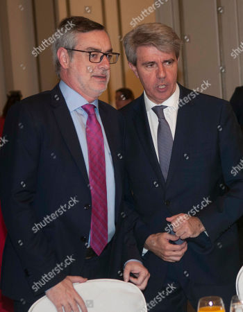 Stock Image of Jose Manuel Villegas and Angel Garrido, yesterday left the Popular Party (PP) to join the party Ciudadanos