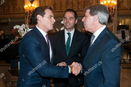 Stock Picture of Albert Rivera, Ignacio Aguado and Angel Garrido, yesterday left the Popular Party (PP) to join the party Ciudadanos
