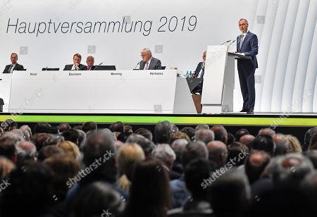 Bayer AG annual shareholders meeting Bonn Stock Photos