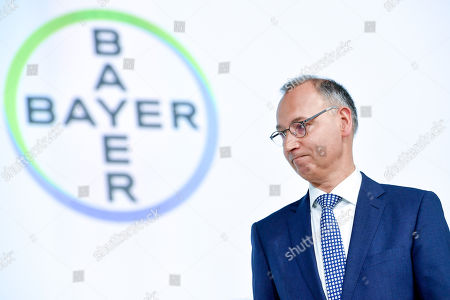 Werner Baumann, CEO of German pharmaceutical company Bayer seen during the annual shareholders' meeting of Bayer AG at the World Conference Center (WCC) in Bonn, Germany, 26 April 2019. The company said the Bayer Group achieved a strong start to the year in its operational business. Sales of Bayer in the first quarter rose by 4.1 per cent on a currency- and portfolio-adjusted basis to 13.015 billion euros. EBIT declined by 15.6 per cent to 1.950 billion euros, after net special charges of 1.050 billion euros. The principal charges concerned were a total of 492 million euros in connection with the acquisition and integration of Monsanto, and 393 million euros pertaining to the announced restructuring. Net income declined by 36.5 per cent to 1.241 billion euros due to high special charges. Bayer's free cash flow almost doubled to 508 million euros.