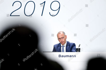 Werner Baumann, CEO of German pharmaceutical company Bayer, seen during the annual shareholders' meeting of Bayer AG at the World Conference Center (WCC) in Bonn, Germany, 26 April 2019. The company said the Bayer Group achieved a strong start to the year in its operational business. Sales of Bayer in the first quarter rose by 4.1 per cent on a currency- and portfolio-adjusted basis to 13.015 billion euros. EBIT declined by 15.6 per cent to 1.950 billion euros, after net special charges of 1.050 billion euros. The principal charges concerned were a total of 492 million euros in connection with the acquisition and integration of Monsanto, and 393 million euros pertaining to the announced restructuring. Net income declined by 36.5 per cent to 1.241 billion euros due to high special charges. Bayer's free cash flow almost doubled to 508 million euros.