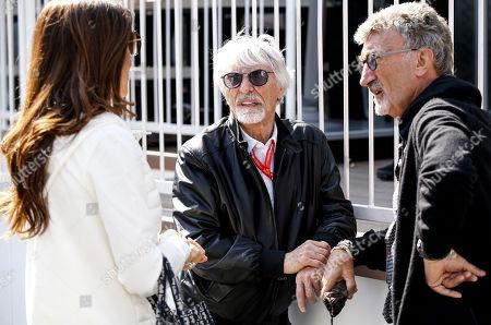 Motorsports: FIA Formula One World Championship 2019, Grand Prix of Azerbaijan,  Fabiana Flosi and Bernie Ecclestone (GBR), Eddie Jordan (IRE)