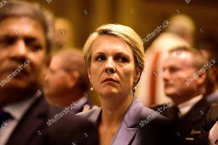 Federal Deputy Labor Leader Tanya Plibersek, during a Mass of Remembrance for the victims of the Easter Sunday bombings in Sri Lanka, at St Mary's Cathedral, Sydney, Australia, 26 April 2019. More than two thousand people have gathered at Sydney's St Mary's Cathedral to pray for victims of the Easter Sunday bombings in Sri Lanka.