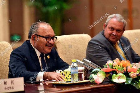 Editorial image of Papua New Guinea Prime Minister Peter O'Neill in Beijing, China - 26 Apr 2019