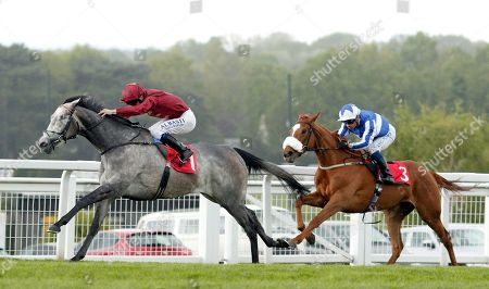 Stock Picture of SPARKLE ROLL (Oisin Murphy) beats KING POWER (right) in The Nordoff Robbins Sir George Martin Memorial Fillies Novice Stakes Sandown
