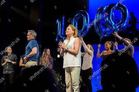Stock Photo of Michael Park, Jennifer Laura Thompson and the cast of 'Dear Evan Hansen'
