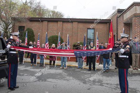 Editorial image of World War II Marine Funeral, Shrub Oak, USA - 26 Apr 2019