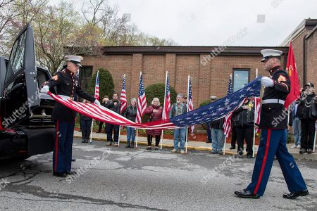 Editorial photo of World War II Marine Funeral, Shrub Oak, USA - 26 Apr 2019