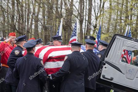 Editorial picture of World War II Marine Funeral, Shrub Oak, USA - 26 Apr 2019