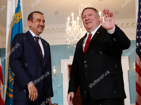 Mike Pompeo, Karim Masimov. Secretary of State Mike Pompeo, right, with Kazakhstani National Security Committee Chairman Karim Masimov, left, at the State Department in Washington