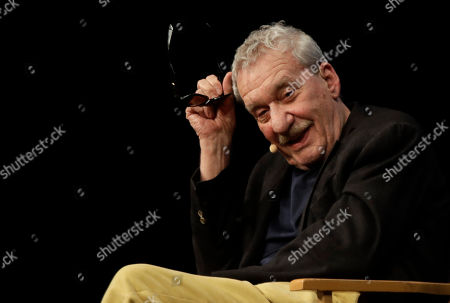 Stock Image of Italian singer Paolo Conte attends an interview at the Strehler theater in Milan, Italy