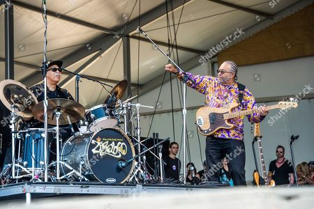 Zigaboo Modeliste, George Porter Jr. Zigaboo Modeliste, left, and George Porter Jr. of the Foundation of Funk perform at the New Orleans Jazz and Heritage Festival, in New Orleans