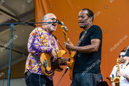 George Porter Jr., Tony Hall. George Porter Jr., left, and Tony Hall of the Foundation of Funk perform at the New Orleans Jazz and Heritage Festival, in New Orleans