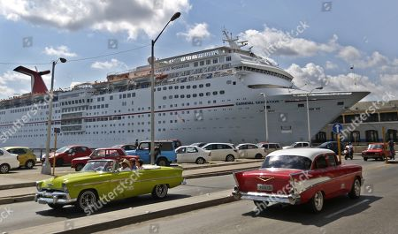 Editorial picture of American cars on the streets of Havana, Cuba - 26 Apr 2019