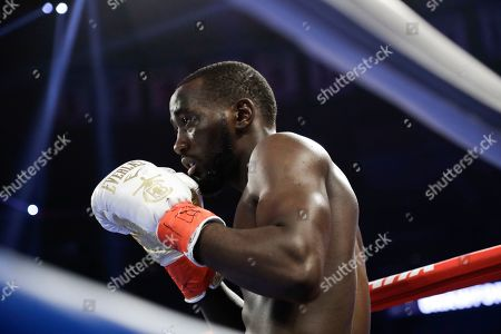 Terence Crawford before a WBO world welterweight championship boxing match against England's Amir Khan, in New York. Crawford won the fight