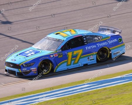 The Fifth Thirds Bank Ford (17), driven by Ricky Stenhouse Jr., on the track at Talladega Super Speedway in Lincoln, AL. Kevin Langley/Sports South Media/CSM