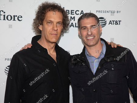 "Stock Photo of Steven Cantor, Jamie Schutz. Steven Cantor, left, and Jamie Schutz, right, attend the screening for ""Between Me and My Mind"" during the 2019 Tribeca Film Festival at the Beacon Theatre, in New York"