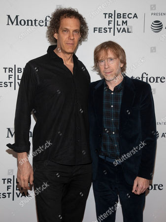 "Stock Picture of Steven Cantor, Trey Anastasio. Steven Cantor, left, and Trey Anastasio, right, attend the screening for ""Between Me and My Mind"" during the 2019 Tribeca Film Festival at the Beacon Theatre, in New York"