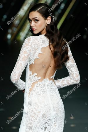 Stock Picture of Zhenya Katava on the catwalk
