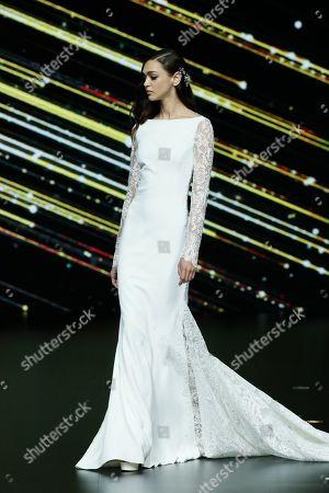 Stock Photo of Zhenya Katava on the catwalk