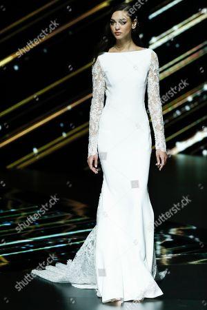 Stock Image of Zhenya Katava on the catwalk