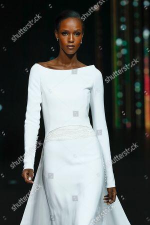 Leila Nda on the catwalk