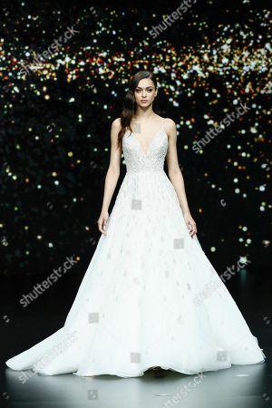 Editorial picture of Pronovias show, Bridal Fashion Week, Barcelona, Spain - 26 Apr 2019